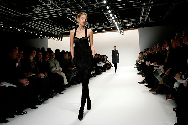 "A classic ""little black dress"" takes the runway at a New York show."