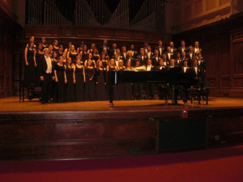Concert Choir poses for a picture after their final concert on Sunday, April 26th, 2009.