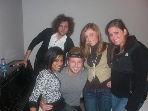 See? Back: Brent Kutzle (cellist) Front: Natali, Ryan Tedder, me, Jenny
