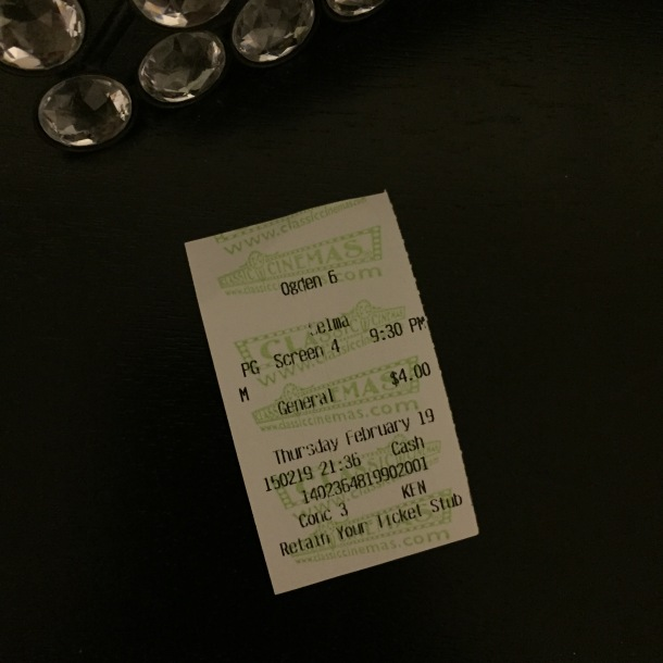 I will forever retain this ticket stub.