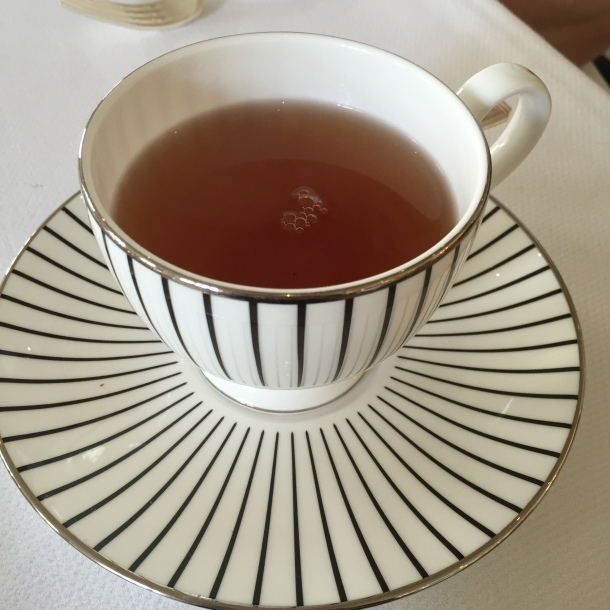If only all of my cups of tea were this fancy.