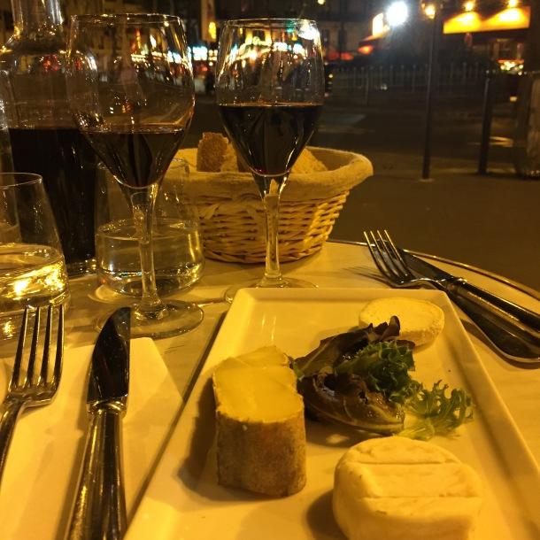 Dinner at Le Charivari