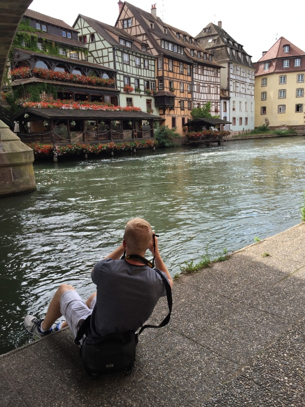 Photographing the scenery of Strasbourg. Basically the Beauty and the Beast village.