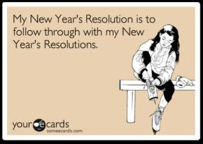 New year, new (and recycled) resolutions!